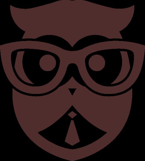 戴眼镜的猫头鹰矢量图形