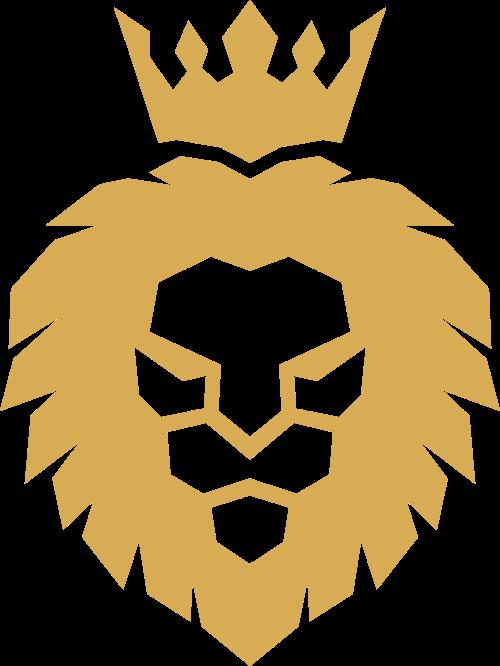 皇冠狮子服装矢量图形