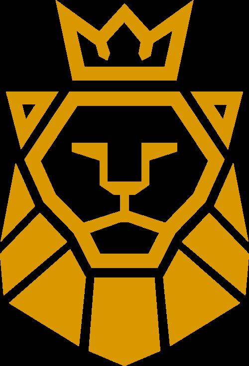 王冠狮子轮廓矢量图形