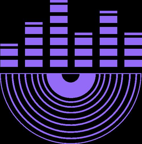 紫色音乐唱片矢量图形