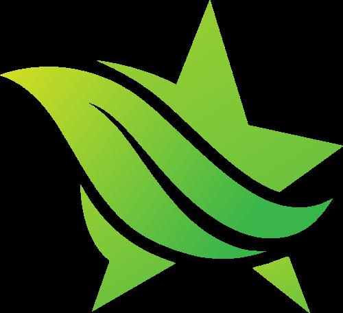 绿叶星星创意矢量 logo
