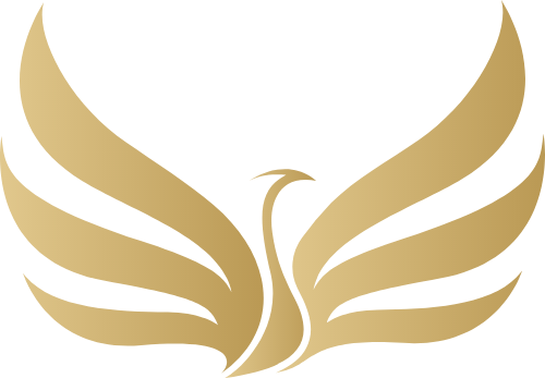 金色飞鹤矢量图形