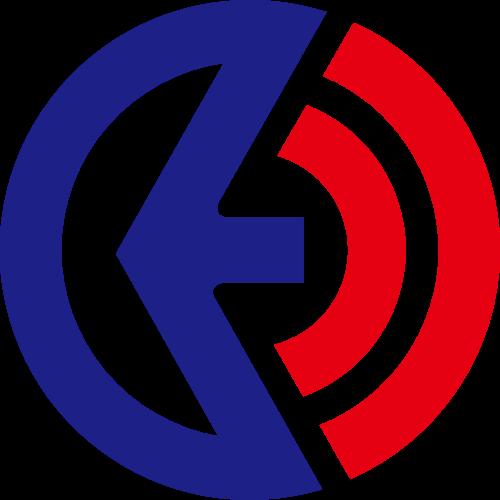 简约红蓝圆形矢量logo