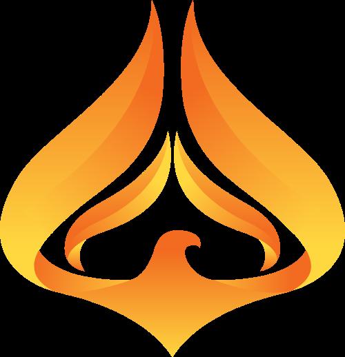 火焰老鹰矢量logo