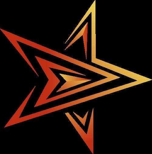线状五角星矢量logo