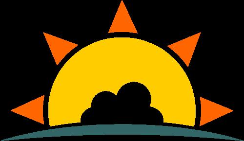 云朵太阳矢量图形