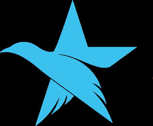 星星飞鸟创意结合矢量于行
