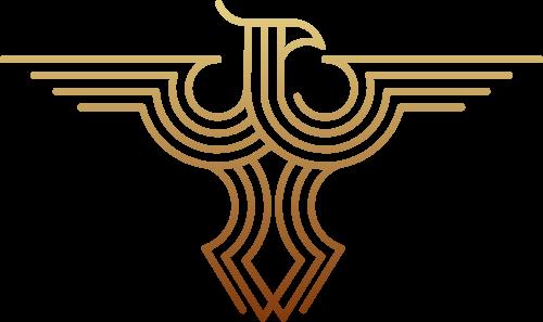 线性老鹰矢量logo