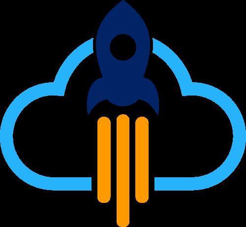 火箭云矢量图形