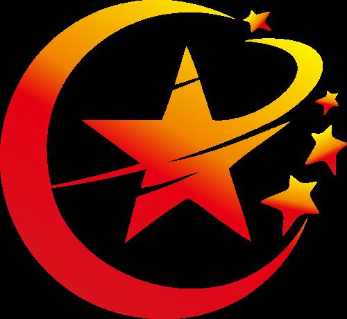 月亮五角星矢量logo图形