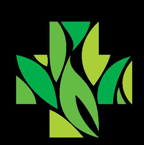 绿色十字医疗健康图形