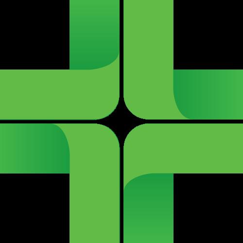 渐变绿色医疗健康图形