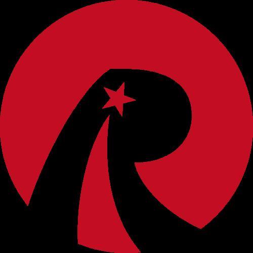红色五角星R字母