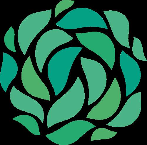 绿色环保家居健康花朵图形