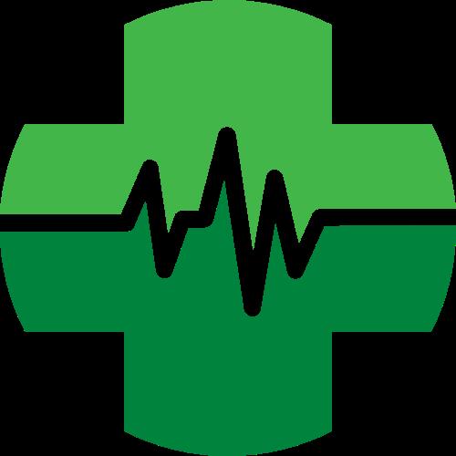 绿色心脏健康医疗医院图形