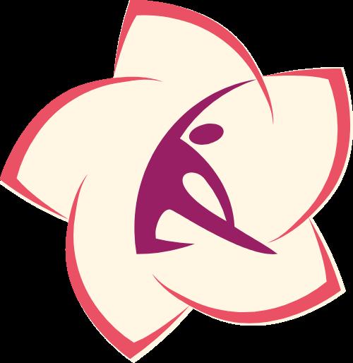 健身瑜伽美体花朵图形