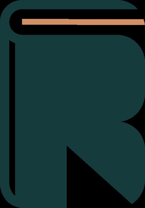 书本造型R字母