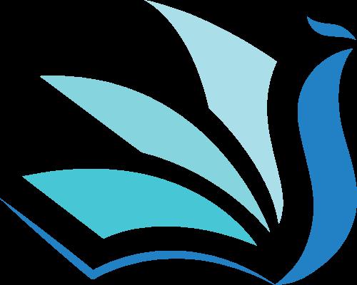 书本翻页教育培训造型矢量logo