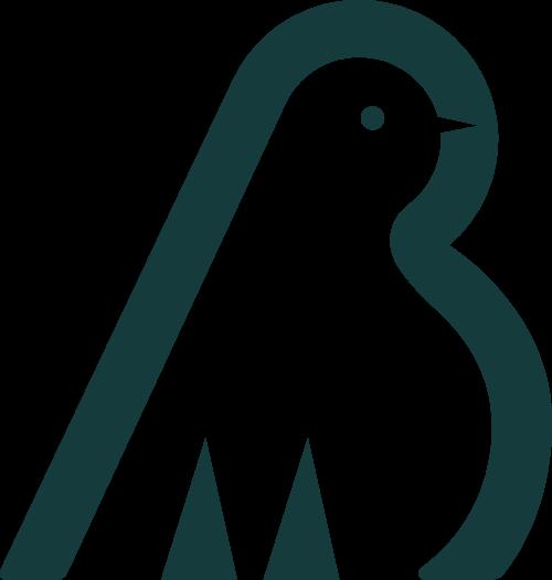 绿色小鸟极简风图形