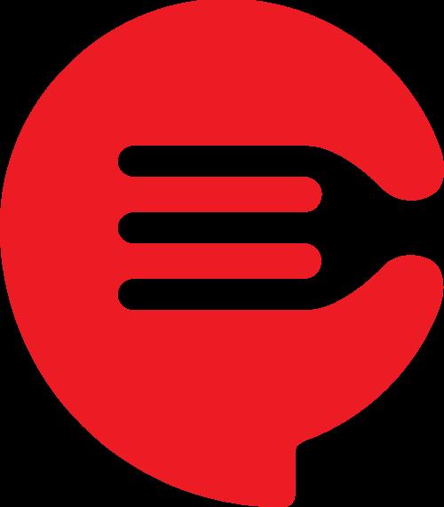 美食餐具刀叉矢量logo
