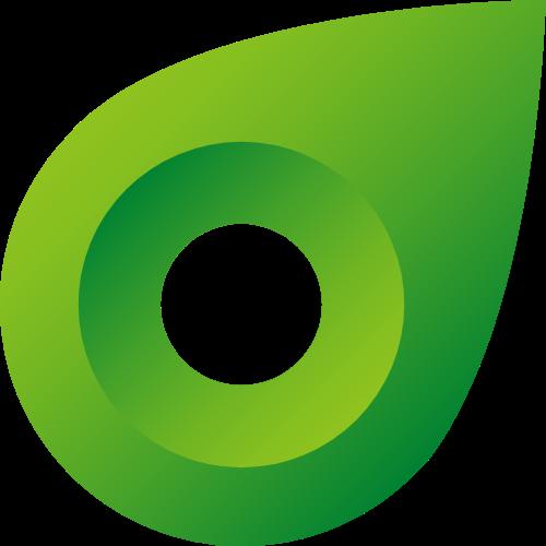 水滴绿色自然镂空图形