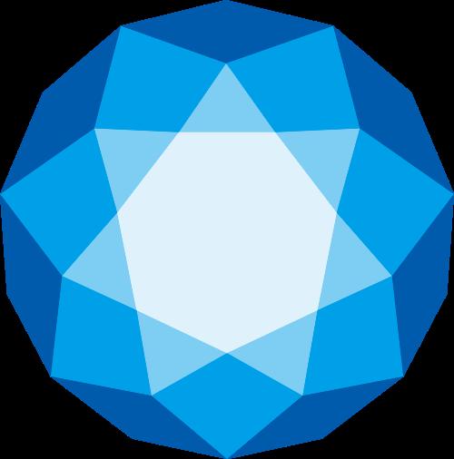 蓝色科技感几何图形