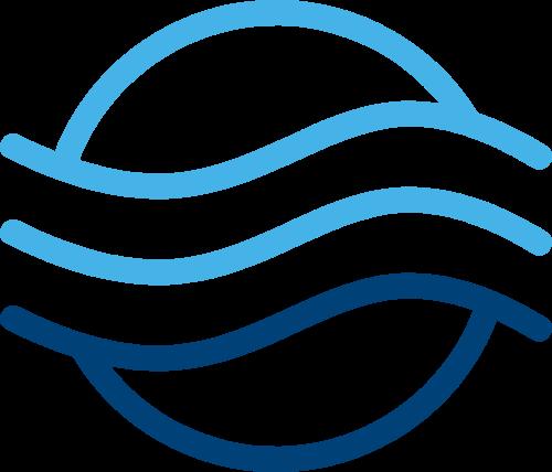 水波浪海水蓝色图形