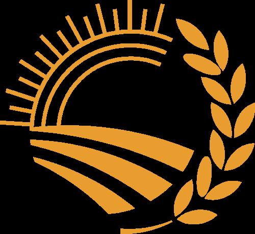 麦子阳光生态自然图形矢量logo