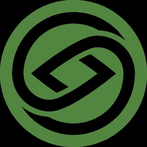 绿色立体自然图形