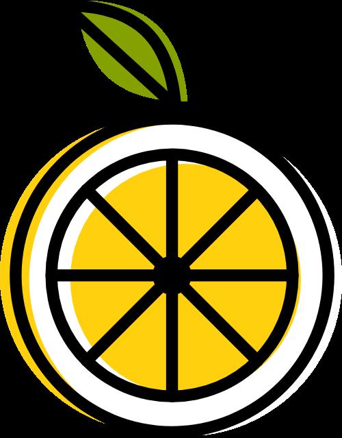 柠檬叶子图形矢量logo