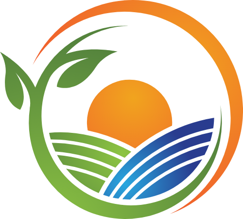 阳光自然生态农业图形矢量logo
