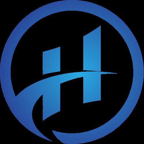 渐变蓝色科技风字母H