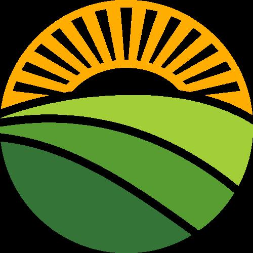 阳光农场生态自然绿色图形矢量logo