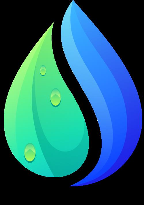 微立体渐变水滴图形