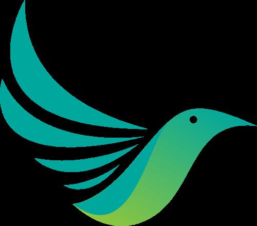 飞鸟绿色翅膀造型