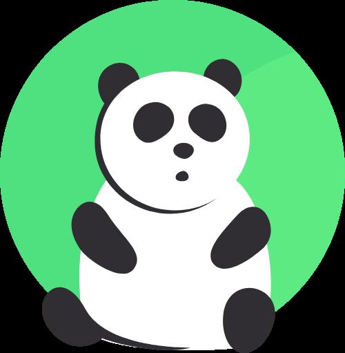 熊猫卡通图形