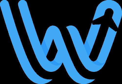 蓝色W字母微渐变