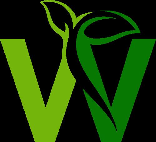 绿色叶子W字母