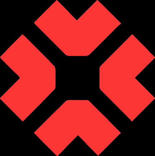 红色方块几何图形