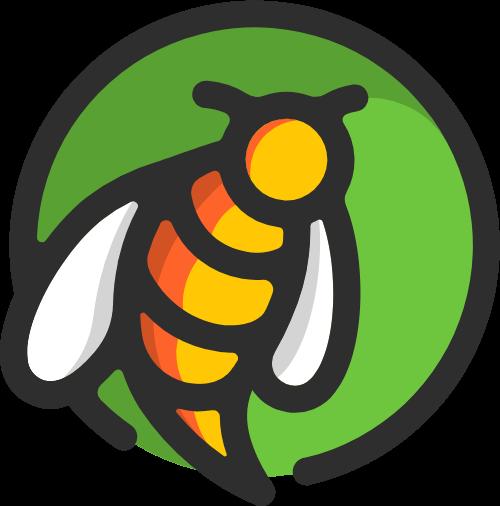 蜜蜂动物造型矢量logo