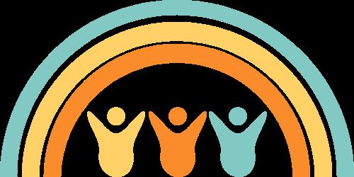 幼儿园彩虹少年矢量logo