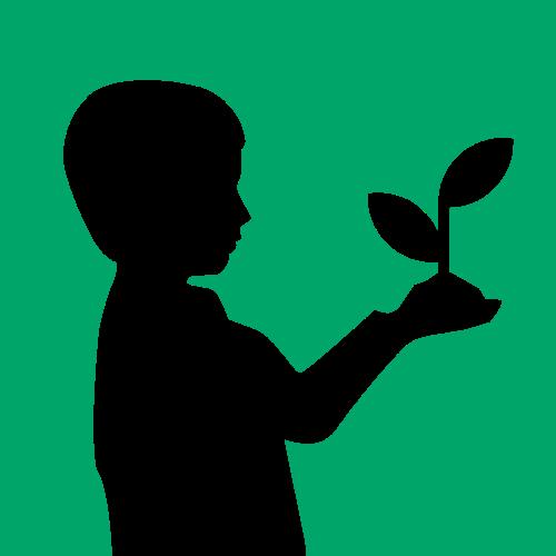 幼儿园男孩发芽矢量logo
