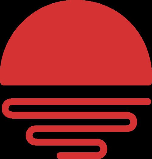 太阳红色矢量logo