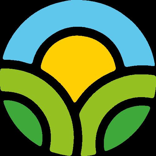 太阳绿色阳光矢量logo