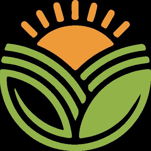 太阳农场农业阳光矢量logo