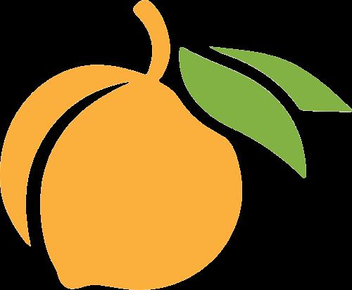 桃子黄桃矢量logo