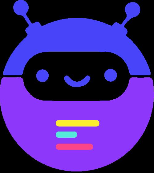 机器人编程矢量logo