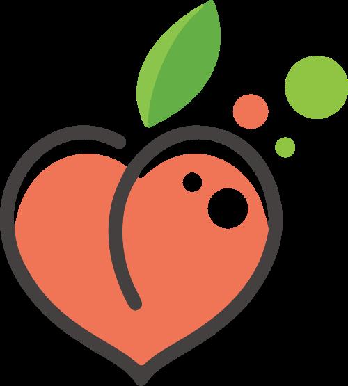 桃子可爱水果矢量logo