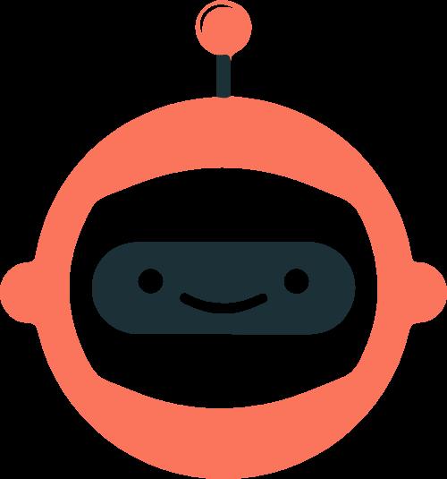 机器人智能科技编程矢量logo