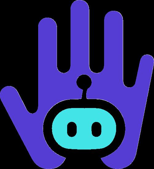 机器人手矢量logo